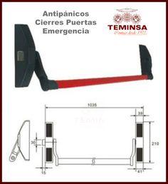 #antipánicos sistemas de #emergencia en #puertas de #seguridad