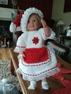 Christmas outfit I made for my daughter.