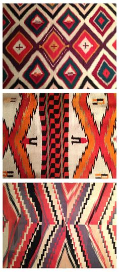 Navajo textiles...I saw these at a Navajo exhibition in Santa Monica last weekend.