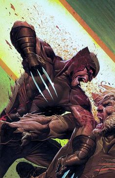 Wolverine VS. Sabertooth  Jerome Opena's cover to the upcoming  Uncanny X-Force #32