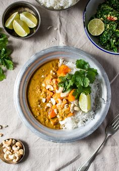 Our Indian-inspired pumpkin coconut curry makes a warming and healthy lunch or dinner. It's quick to make, delicious, naturally vegan and gluten-free.