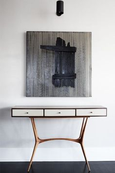 Modern Design / Danish Inspired / Simple Furniture / Desk Drawers / Library Table / Painting /