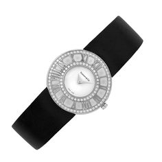White Gold and Diamond 'Atlas' Wristwatch, Tiffany & Co.   18 kt., quartz, dia. ap. 27 mm., movement, dial, case, strap & white gold buckle signed Tiffany & Co., Atlas, Swiss Made, no. 030770123. With signed box.