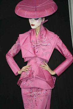 Galliano used origami as inspiration for Dior's Spring 2007 couture collection  www.STATEOFCHIC.com