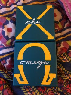 Big little chi omega canvas DIY letters