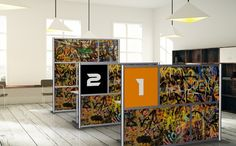 Design Gallery of Modern Office Partitions & Room Divider Walls. Configurations of modular office cubicle and room partitions for dividing offices or any space. Room Partition Wall, Room Partition Designs, Room Divider Walls, Room Partitions, Office Partitions, Room Dividers, Office Space Design, Office Designs, Modular Walls