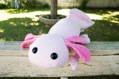 Giant Axolotl Stuffed Animal, Plushie, Plush Toy, Huge Stuffed Animal - Available from BeeZeeArt.com
