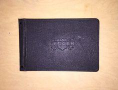 Vintage Ledger Radio Ledger by National Junk Journal by cordofblue