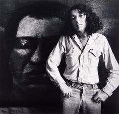 Tony Fomison in Front of His Painting Omai In 1979 photo by marti friedlander Christian Names, Rare Wine, John Miller, New Zealand Art, Nz Art, Artist Profile, Australian Art, Documentary Photography, Photo Look