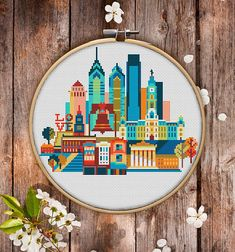 This is modern cross-stitch pattern of Philadelphia for instant download. A cool tip to decorate your living room. You will get 5-pages PDF file, which includes: - main picture for your reference; - colorful scheme for cross-stitch; - list of DMC thread colors (instruction and