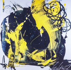 Blue and Yellow Reproduction by Futura 2000 Lenny McGurr
