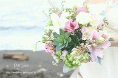海辺のブーケ beach wedding bouquet