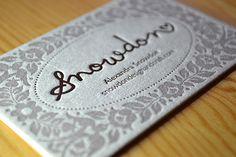 Snowdon Letterpress Business Card | My lovely new letterpres… | Flickr