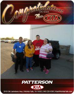 Congratulations to Anjelica Vega on her new 2014 Kia soul!- From Steven Contreras at Patterson Kia