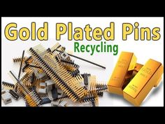 🖇Gold Recovery from gold plated connector pins. This is my first video on gold plated pins recycling. Electronic Scrap, Electronic Recycling, Gold Retriever, Recycling Information, Knife Patterns, Scrap Gold, Buy Gold And Silver, Buy Computer, Forging Metal