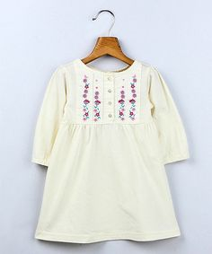 Take a look at this Off-White Floral Top - Infant, Toddler & Girls by Beebay on #zulily today!