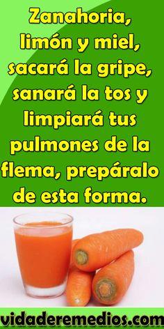 Zanahoria, limón y miel, sacará la gripe, sanará la tos y limpiará tus pulmones de la flema, prepáralo de esta forma. #Zanahoria #limón #miel #sacará #gripe #sanará #limpiará #pulmones #flema