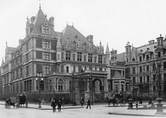 The Fifth Avenue palace of Alice and Cornelius Vanderbilt II, grandparents of Gloria Vanderbilt. Built in 1882 and remodeled ten years later, the 130 room house covered the entire block on the west side of Fifth Avenue between 57th and 58th Street where Van Cleef & Arpels and Bergdorf Goodman stand today. The widow Vanderbilt sold the house in 1927 for $7 million and the stores were constructed soon after.