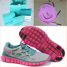 Womens Nike Free Run 2 Gray Jade Fuchsia Shoes