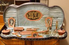 Art Deco 1930 Celluloid Vanity or Boudoir Set - Harp Gallery Antique Furniture