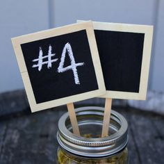 Chalkboard Table Numbers From Rustic Wedding Chic