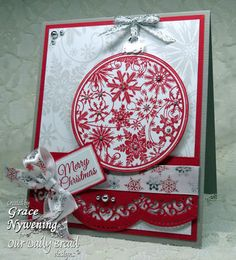 Stamps - Our Daily Bred Designs Christmas Pattern Ornaments, Poinsettia Wreath, ODBD Christmas Paper Collection 2013, ODBD Custom Cardinal Die,ODBD Custom Recipe Card and Tags Die