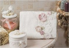 Bathroom Towels - Elegance ,Aberta #towel #bathroom #homedecor #gift #cotton #bamboo #floral #pink #luxury #home #design