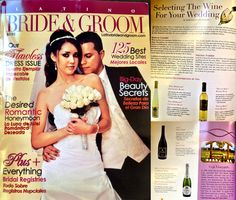 Ceja wines featured in the Latino Bride & Groom Magazine.
