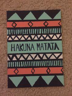 Hakuna Matata Painting by AcrylicBrushstrokes on Etsy