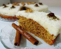 Muhallebili Havuçlu Kek - Pratik Tarifim Custard Cake, Vanilla Cake, Banana Bread, Carrots, Cake Recipes, Bakery, Cheesecake, Food And Drink, Eat