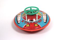 Star Ship Space Tin Friction Toy by WarrenExchange on Etsy