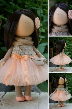 Unique doll Handmade doll Textile doll Soft by AnnKirillartPlace