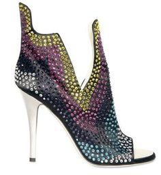 The multi color stones boot by-Giuseppe zanotti