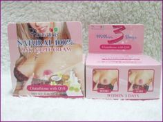Natural 100% Pink Nipple Herbal Cream Glutathione with Q10 the Best Result Pannamas $16.70 & FREE Shipping