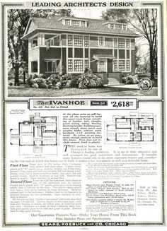 The Sears Home I found in Needham is an Ivanhoe, one of the largest, fanciest, and most expensive models that Sears offered (1920).