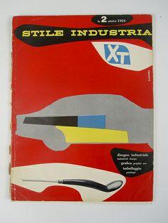Bruno Munari's cover of Stile Industria #2, October 1954.