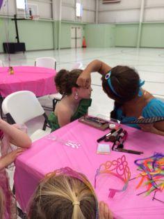 Karsyn getting her make up done by Jasmine @ Payton's birthday party, 2014
