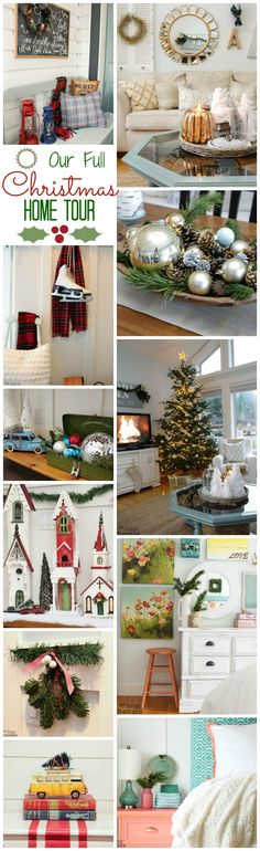 Deck the Halls our Full Christmas Home Tour come on by for a tour of all our holiday decor at The Happy Housie