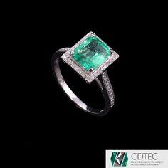 RRV $6570 - 9ct W.G, 1.85ct Colombian Emerald & Diamond Dress Ring