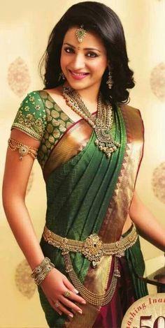 Trisha in green