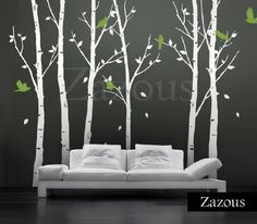 Trees In The Urban Forest - White - Wall Stickers from zazous | Made By Zazous | £94.99 | BOUF