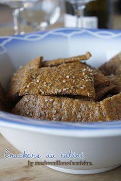 Crackers au tahini (purée de sésame), paprika fumé et graines – Mes brouillons de cuisine