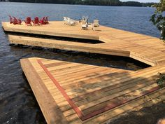 Beautiful dock built by Ledger Steel Systems Inc.  Designed by t-squared design studio.