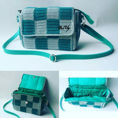 Crochet Sling Bag Square Tapestry Handmade