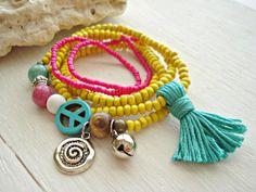 Yoga Bracelet  Yoga Jewellery  Boho Jewellery  by HandcraftedYoga, $33.00