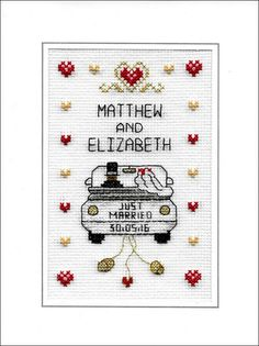PDF Wedding cross stitch chart download di CelebrateInxStitch
