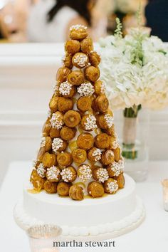 While wedding cakes may be customary at American celebrations, look to other cultures when breaking the dessert mold. Croquembouche, a patisserie confection made with cream puffs and spun sugar, is commonly served at French nuptials. #weddingideas #wedding #marthstewartwedding #weddingplanning #weddingchecklist Paris Wedding, Brunch Wedding, Wedding Desserts, Our Wedding Day, Wedding Cakes, Wedding Ceremony, Reception, Wedding Decor, Wedding Tips