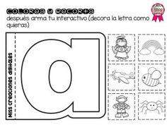 Fabuloso material practicando las vocales colorea y recorta para preescolar y primer grado de primaria Compañeros y amigos docentes que
