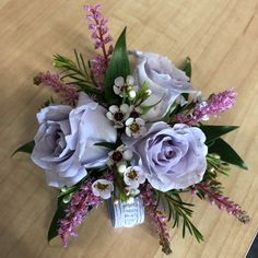Who Wears Flowers at Wedding Homecoming Flowers, Prom Flowers, Wedding Flowers, Homecoming Mums, Purple Flowers, Wedding Stuff, Dream Wedding, Prom Corsage And Boutonniere, Corsage Wedding