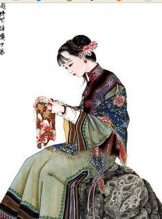 Chinese Painting Painting and wash painting Japanese Ink Painting, Chinese Painting, Japanese Art, Buda Zen, Blog Design Inspiration, Chinese Brush, Woman Illustration, China Art, Oriental